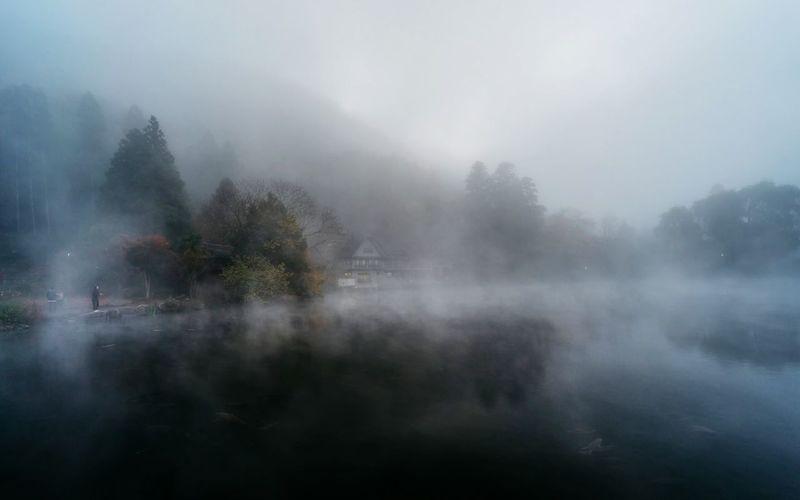 Kinrin Lake Yufuin Japan Beautiful Smog Landscape A7 Lake EyeEm Nature Lover Travel
