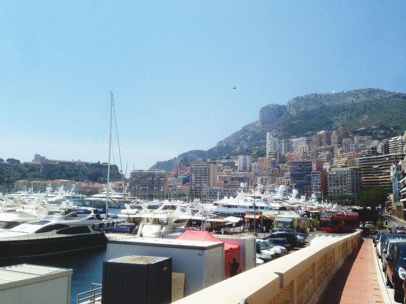 Monaco Port Monaco Bateau Rocher Monaco Port