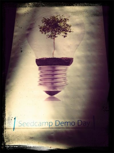 Seedcamp Demoday the pressure is on for the last pitch of the day :-)