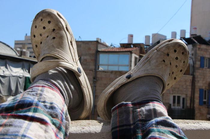 morning :) City Life Day Off Footwear Lifestyles Old Shoes Personal Perspective Relaxing Sunny
