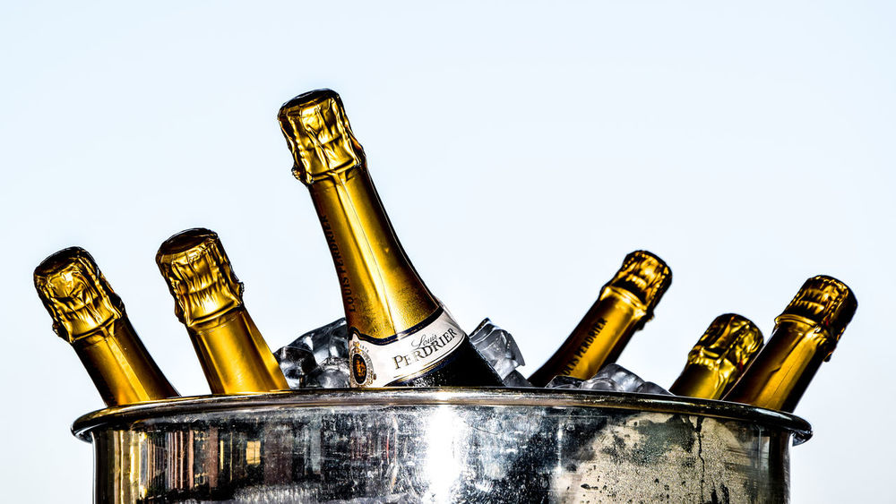 celabration Bottle Champagne EyeEm Gallery Eyem Best Shots Eyemphotography Interesting Light No People White Background Yellow