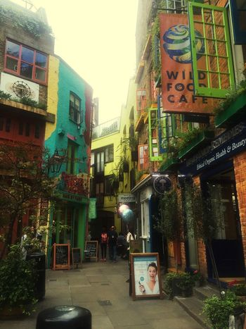 """""""Colored Lifestyle"""" Architecture Outdoors People Neal's Yard London England Shopping ♡ Colors Colorful Color Adapted To The City"""