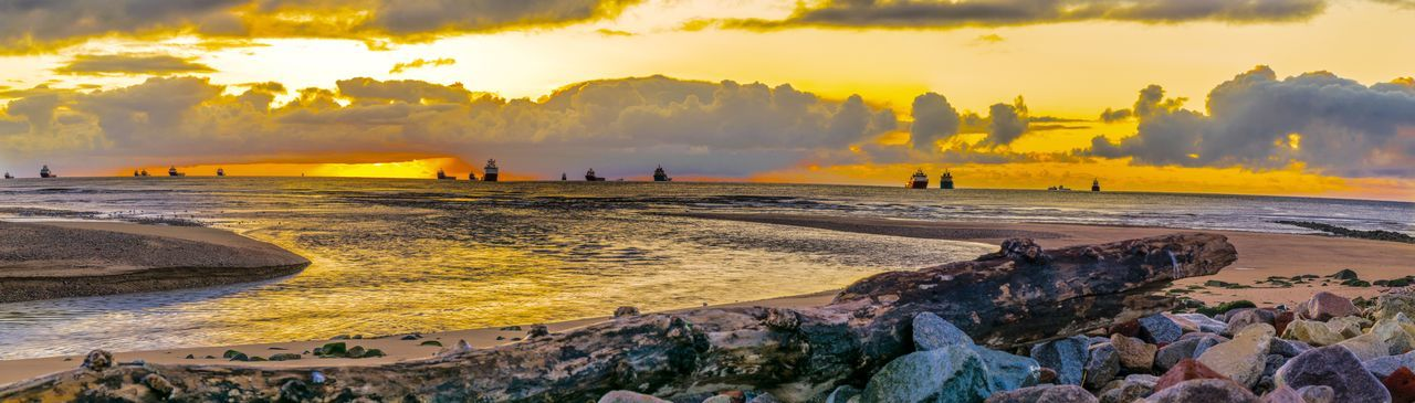 Mayday  Sunrise at the Don Estuary in Bridge Of Don Aberdeen Scotland Coast Coastline Coastal Sea And Sky