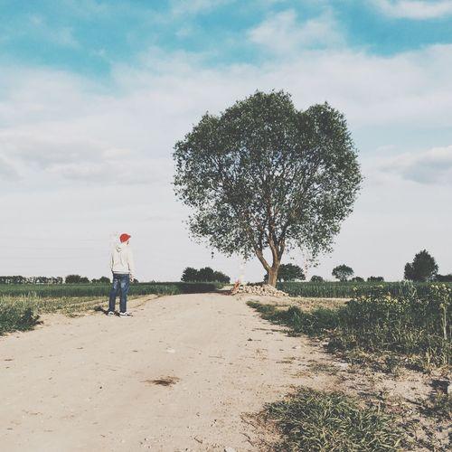 People walking on field