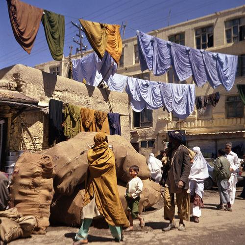 Afghanistan Bazaar Burka  City Life Dyeing Kabuki Market