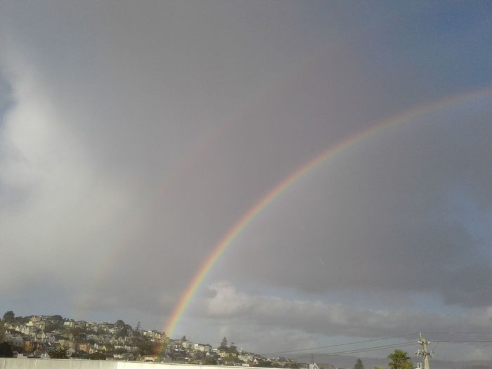 Rainbow Weather Beauty In Nature Environment Cloud - Sky Outdoors Phoneography City Bay Area California Eyeemphoto Noe Valley San Francisco