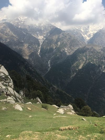 Picture perfect Mountain Landscape Beauty In Nature Outdoors No People Nature Day Mountain Range Sky Triund, India