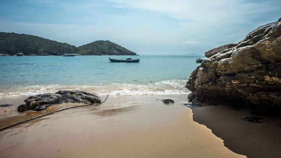 Holiday Landscape Brasil EyeEm Selects Water Sea Sky Beach Land Beauty In Nature Scenics - Nature Tranquility Nature Sand Tranquil Scene Day Rock Idyllic No People Outdoors Rock - Object Nautical Vessel