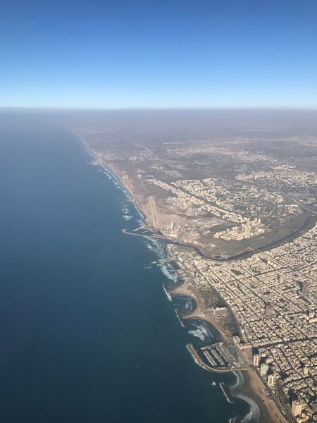 Coastline of Israel Places To Visit Tourism Travel Destinations Coastline Central Israel Sea Aerial View Flying Airplane Densely Populated Breakwater City Nature Scenics No People Getty Images Selected For Premium Cityscape Horizon Over Water Aerial Shot High Angle View Israel Surf Sky Beauty In Nature Outdoors An Eye For Travel