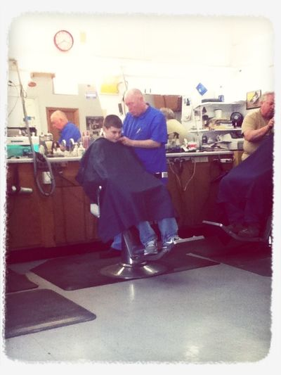 Cory getting that nice cut