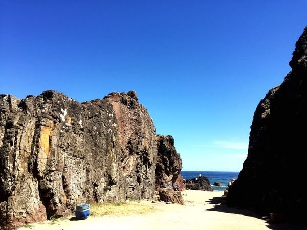 Casagrande Cuevas Blue Clear Sky Nature Rock - Object Copy Space Beauty In Nature Tranquility