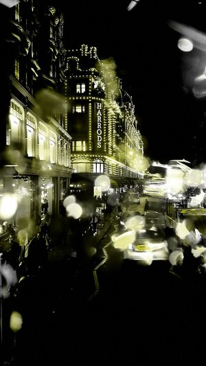 Harrods illuminated Night Architecture Building Exterior City City Life Nightlife No People London United Kingdom England