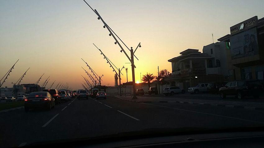 Sunset Al Waab Street