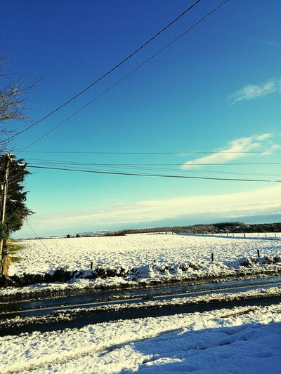 snow in Mayo Countryside Mayo Castlebar Christmastime Check This Out Snow Sunlight Nature Sky Outdoors Cable No People