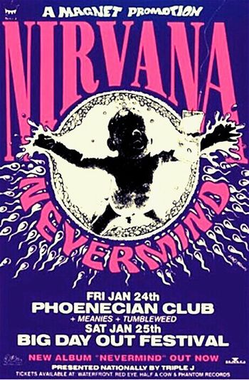 Nirvana Grunge Nirvana Poster Big Day Out Big Day Out Festival Kurt Cobain Poster Band Concert Band Live Music Music Poster Music Posters Musicposter Posters Nirvana: Nirvana♡ Nirvana. Grunge Music Kurtcobain Bands Nevermind