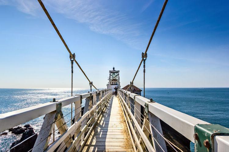 Historic lighthouse point bonita, marin headlands california