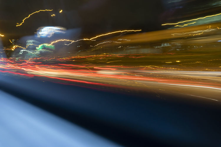 Motion Illuminated Blurred Motion Transportation Night No People City Long Exposure Light Trail Speed Multi Colored Glowing Light - Natural Phenomenon Road Abstract Sky Architecture Nature Cloud - Sky Outdoors Light