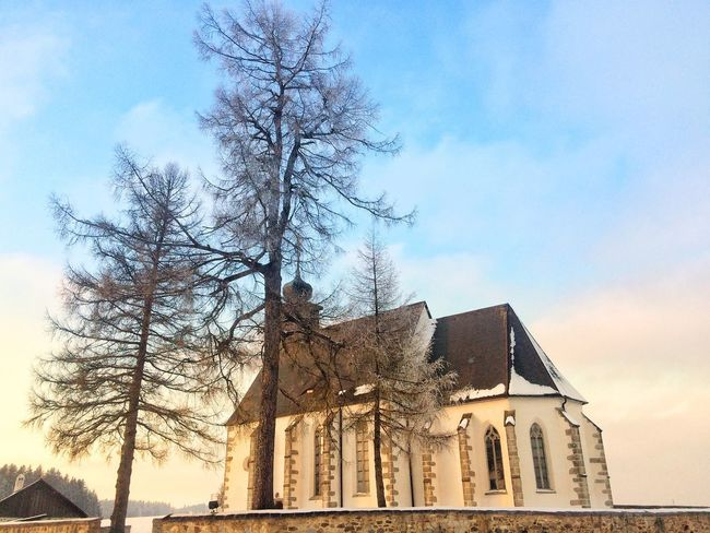 Built Structure Architecture Building Exterior Sky Religion Spirituality Low Angle View Place Of Worship Tree Bare Tree Outdoors Day No People History Cloud - Sky Travel Destinations Branch Nature