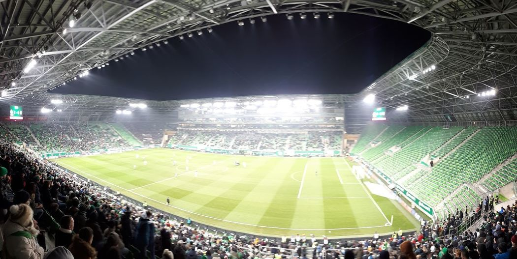 The winner is Ferencváros! Budapest Ferencváros Hungary Audience Championship Crowd Event Fan - Enthusiast Floodlight Floodlit Fradi Grass Illuminated Large Group Of People Lighting Equipment Match - Sport Outdoors People Playing Real People Soccer Spectator Sport Sports Team Stadium