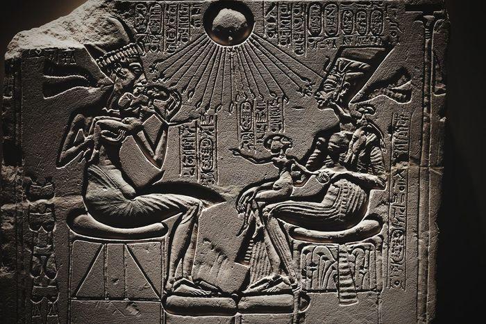 Echnaton and Nophretete Antique Pharaoh Berlin Berlin Museuminsel Echnaton Egypt Egyptian