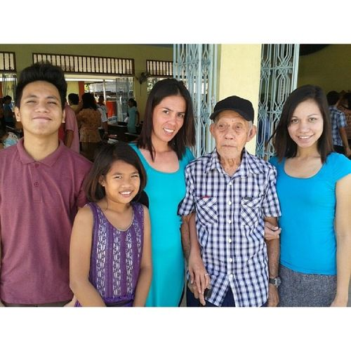 with papang ♡♡ 1stsunday0dEc 1stday0fdec C0usins Papang sunday church guimaras ph @yvonesplace