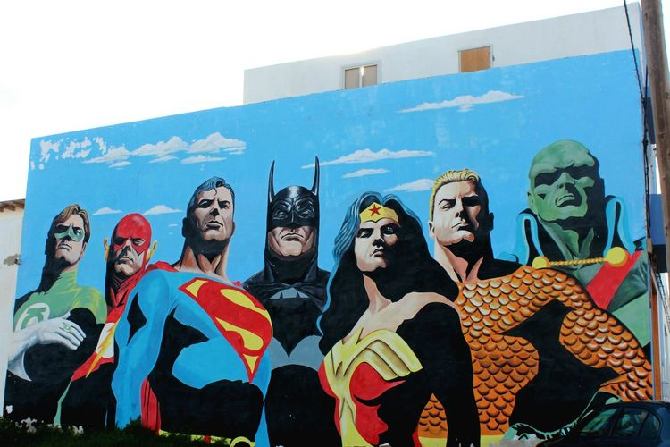 Art Creativity Superheroes Justiceleague Graffiti Murales Street Art Puerto Del Rosario Canarias
