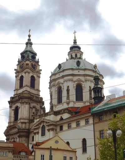 St. Nicolas Church, Old Town, Prague Architecture Built Structure Cathedral Church Cloud Cloud - Sky Cloudy Day Dome Exterior Façade High Section Historical Building Low Angle View No People Old Town Outdoors Place Of Worship Prague Religion Sky Spirituality St. Nicolas Church Tourism Travel Destinations
