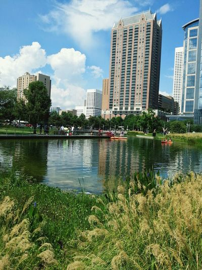 The Places I've Been Today Houston Downtown Discovery Greens City Park Blue Wave