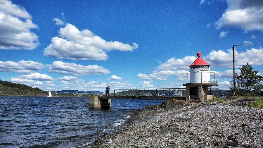 Day Gressholmen Island, Oslo Hovedøya Lighthouse Lindøya Nature Norway Oslo Outdoors People Sea Sky Water