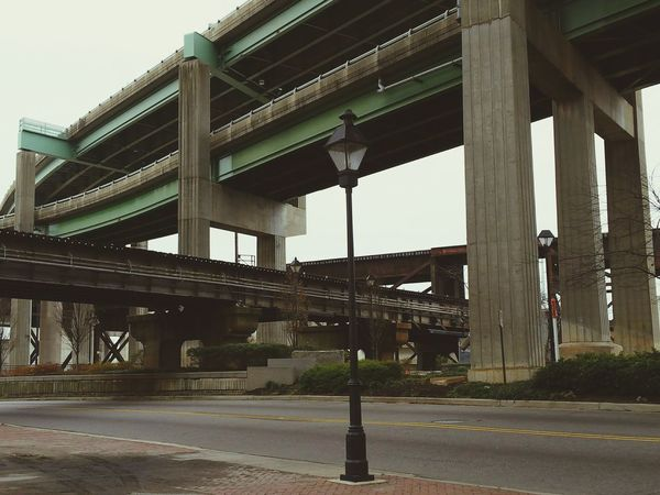 Light Post Light Pole Overpass City Underneath Bridge - Man Made Structure Architecture Built Structure Architectural Column Outdoors Day Connection City No People Sky