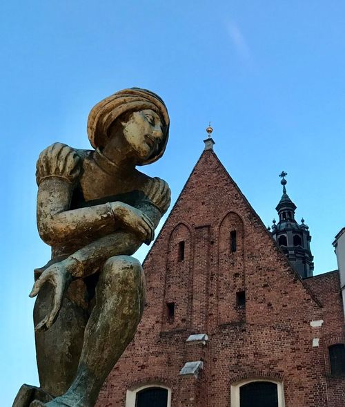 Cracovia, cracow Architecture Sky Built Structure Building Exterior Blue Religion Low Angle View