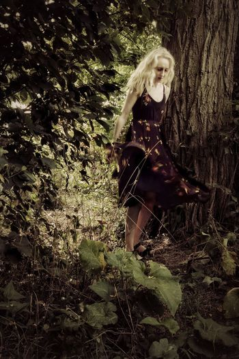 Gust of wind @eye4invisible Light And Shadow Path In Nature Trees Tree Trunk Summer Movement With Friends @HannaKoper1 Fashion Photography Standing Full Length Blond Hair #urbanana: The Urban Playground Urban Fashion Jungle