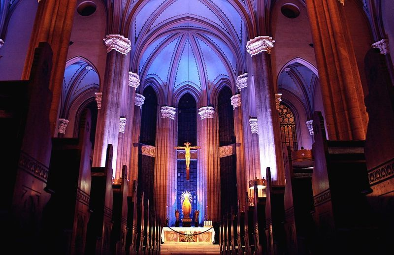 God is know!. Belief Place Of Worship Architecture Building Built Structure Building Exterior Architectural Column No People Arch Glass Illuminated Altar Window Ceiling Aisle Ornate