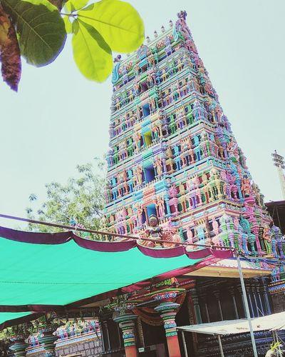 Indian Temple Beautiful Mobilephotography Colorful @sekharchinta, Hyderabad India
