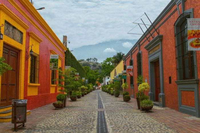 Calle del pueblo Architecture Sky Street Road Town Tequilla Nikon D3200 Tourism Beutiful  Fullpic Travel Photography Vibrant Color Vacations