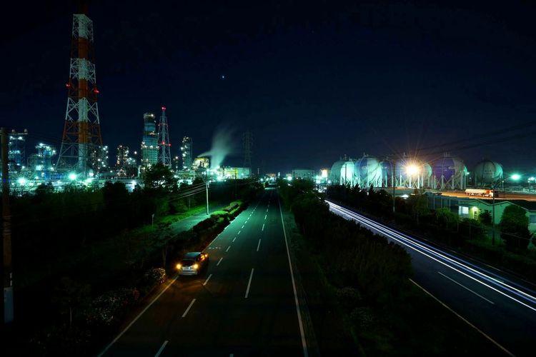 ついついInstaメインになってしまうなあ 工場 工場夜景 夜景 広角