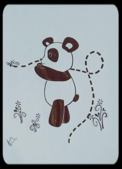 Terminei meu panda!!! Panda! My Drawing Art, Drawing, Creativity KAWAII