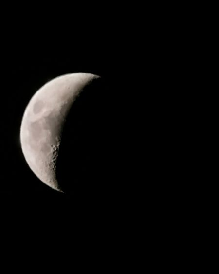 Moon Astronomy Half Moon Space Exploration Tranquility Outdoors