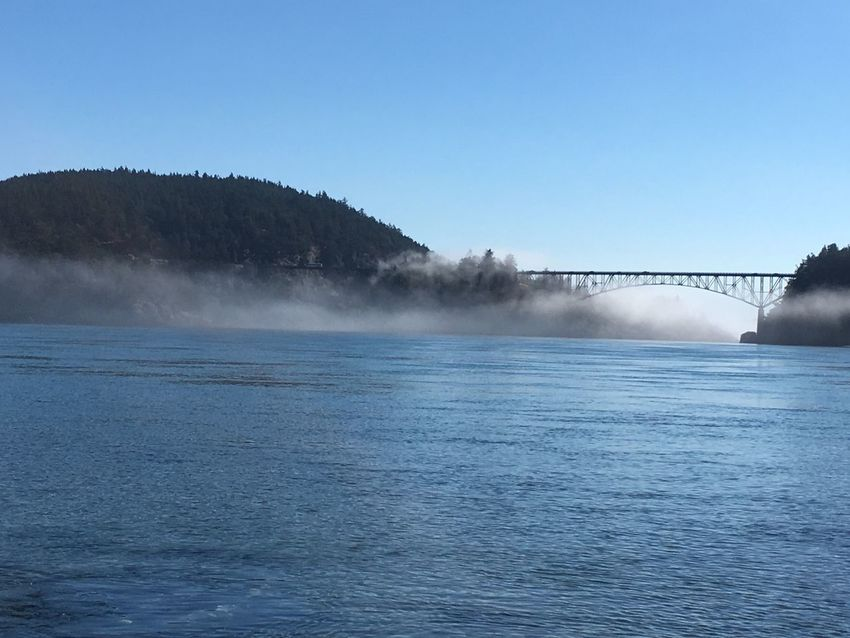 Deception Pass Bridge Deception Pass Water Foggy Morning Fog Foggy Day Foggy Landscape Fogporn SeattleGamble Washington Whidbey Island Whidbey Whidbey Is For Me ❤️ The Pass