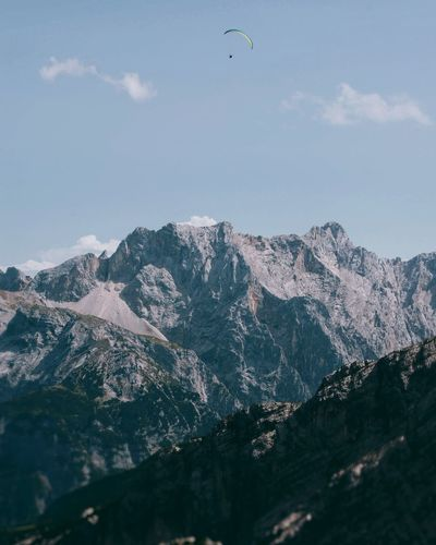 Mountain Outdoors Sky Flying Mountain Range Landscape Beauty In Nature Alps Germany Alps