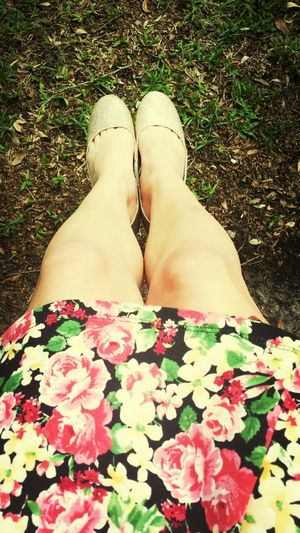 Glitter flats and floral dress Ootd ✌ Floral Glitter Fashion