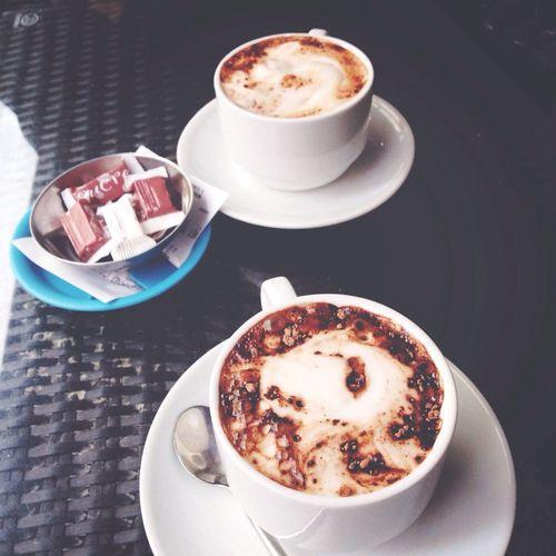 Chocolat chaud en amoureux
