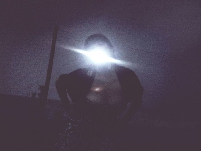 Throwing up light. Today's Shoot Nightlife Mutant Portrait Darkness And Light