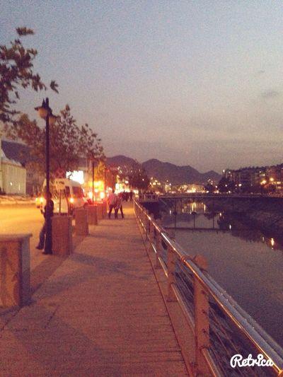 Walk through the river while listening james Iha Take A Walk My City Riverside James Iha
