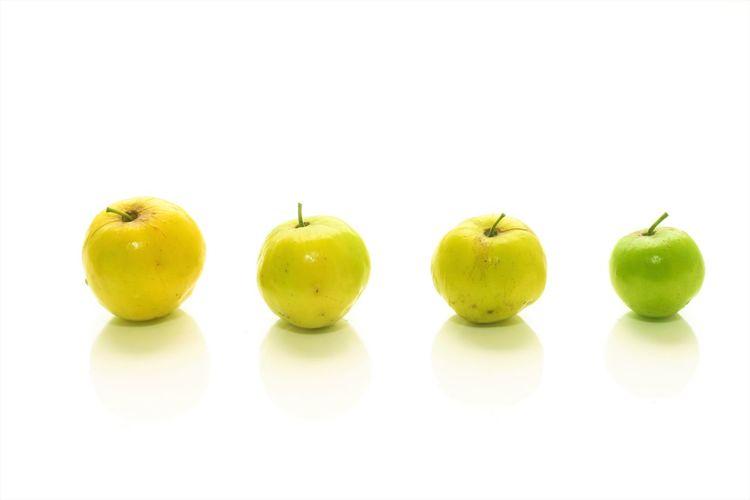 monkey apple Little Apples Monkey Apple Yellow Apple Jujube  Apple Apple - Fruit Food Food And Drink Fruit Healthy Eating White Background Yellow