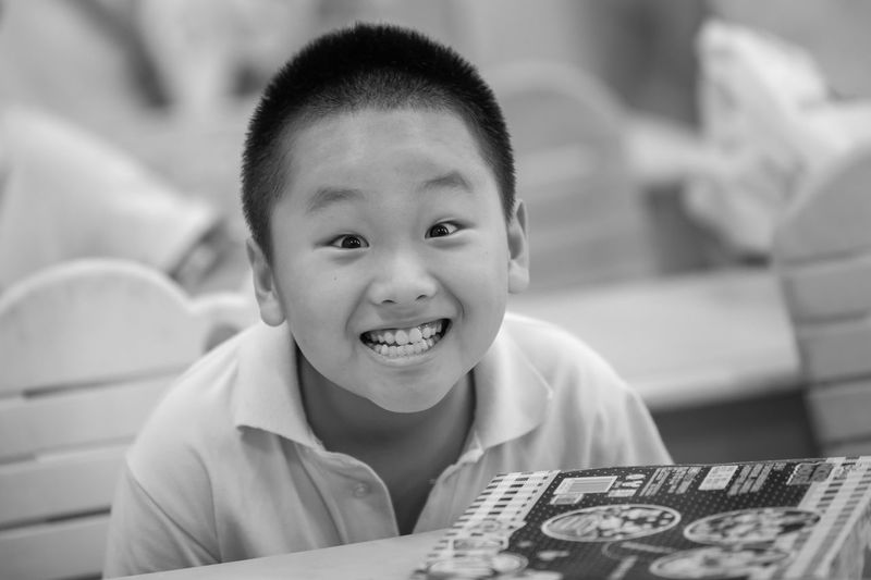 Child Portrait Smiling Childhood Happiness Boys Headshot Looking At Camera Learning Cheerful