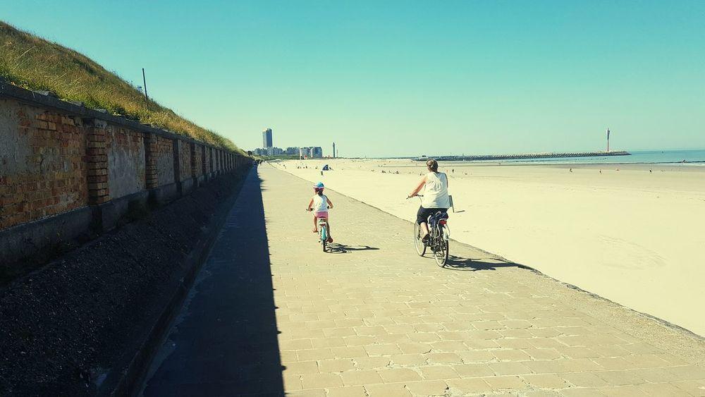 Beach Biking Taking Photos Enjoying Life Mum And Child Smartphonephotography Belgium Ostend #belgium Ostend