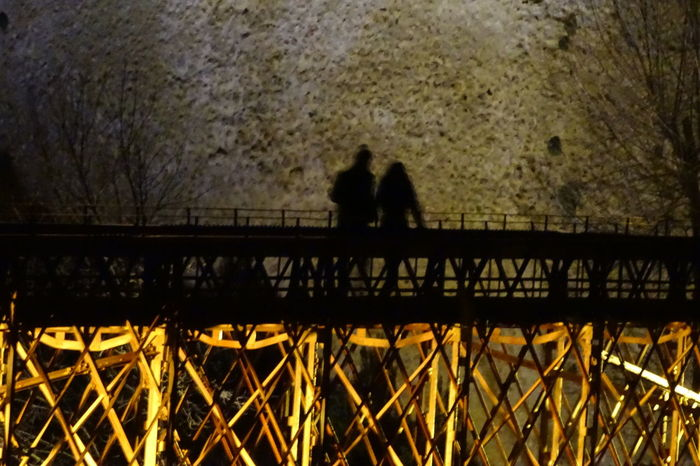 San Pablo's bridge Sadows Cuenca, Spain Bridge Detail Bridge - Man Made Structure Silhouette Two People Outdoors Night Real People Men Architecture Adults Only EyeEmNewHere Leisure Activity Rear View Togetherness Lifestyles Full Length