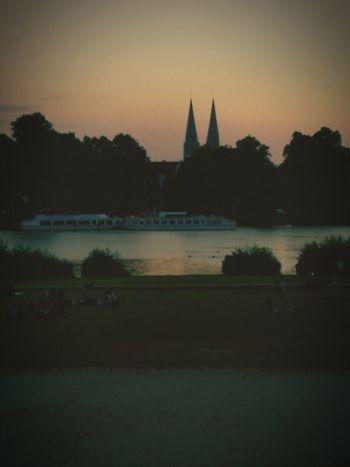 Marli Borkenhagen Lübeck City Water Politics And Government Sunset Cityscape Urban Skyline History Reflection Silhouette Sky