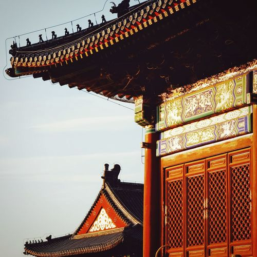 Travel Destinations Sky Outdoors Architecture Multi Colored Royalty History Architecture Tourism King - Royal Person Light And Shadow Old Building  Warm Winter Temple Of Heaven Park FUJIFILM X-T10 Old Architecture Beijing, China Traditional Building Traditional Architecture China Culture Travel Roof Sunlight Built Structure Warm Light